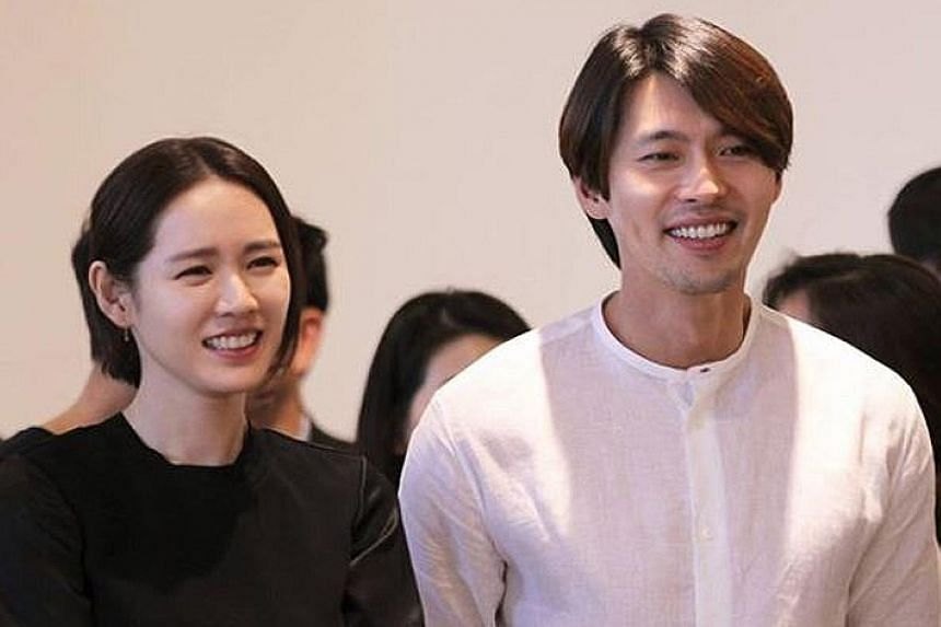 South Korean stars Son Ye-jin and Hyun Bin are just friends, says Hyun's management agency.