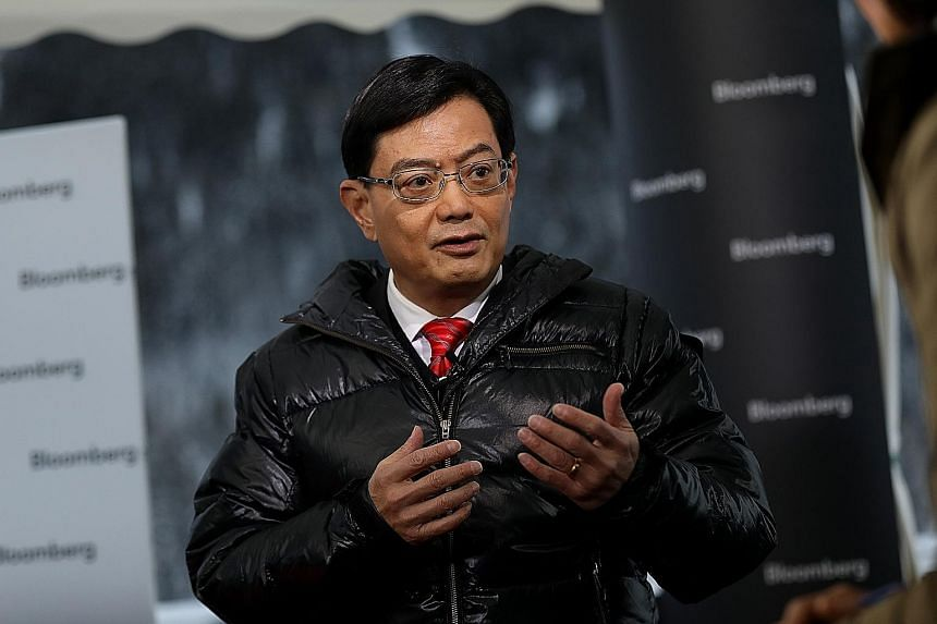 Finance Minister Heng Swee Keat said in an interview with Bloomberg Television that trade tensions are prompting changes in how goods are manufactured and traded.