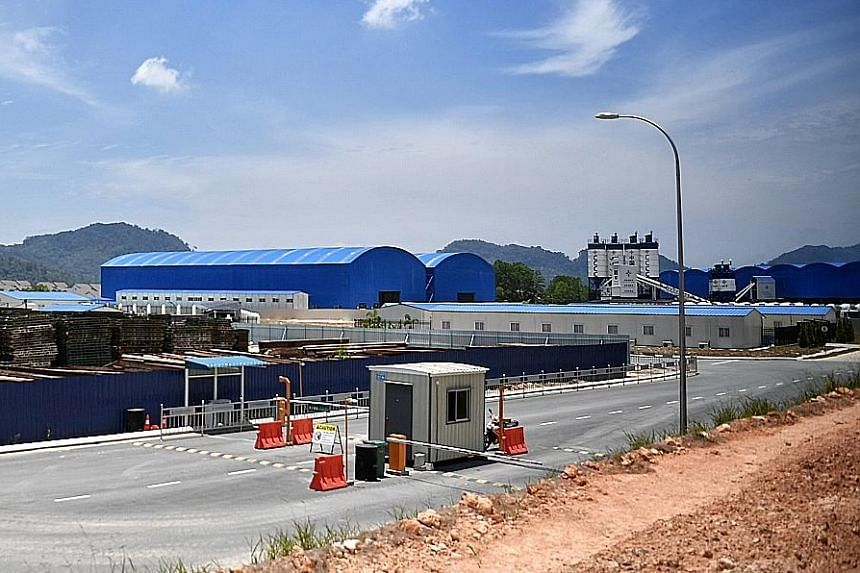 A deserted China Communications Construction Company site in Pahang last year. The Pakatan Harapan government had issued a stop-work order in July after winning the general election.