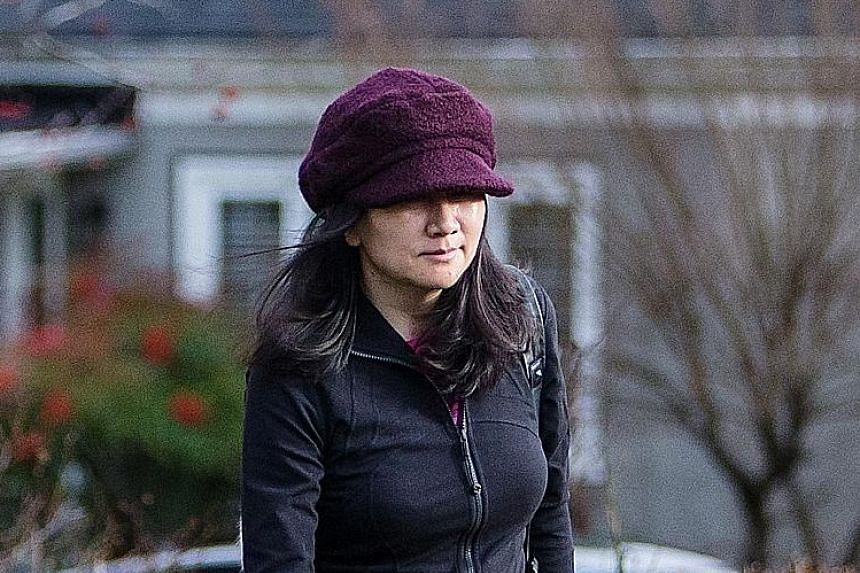 """China's foreign ministry spokesman said placing Huawei chief financial officer Meng Wanzhou (left) under house arrest was """"plainly aimed at putting unreasonable pressure on China's high-tech enterprises""""."""