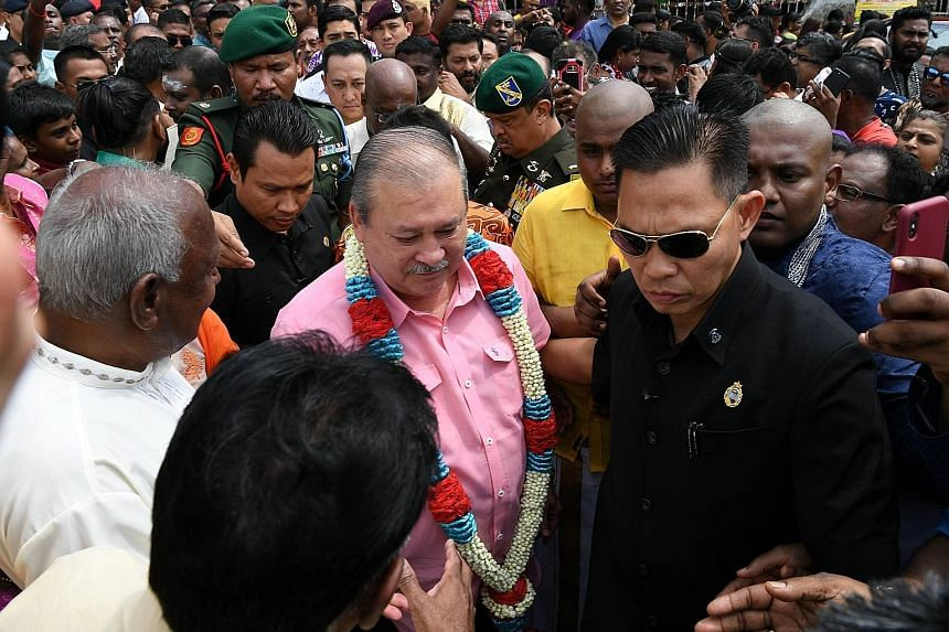 Sultan Ibrahim Sultan Iskandar at Thaipusam celebrations yesterday. Under Malaysia's rotation system in normal circumstances, the head of the Pahang royal household is next in line, followed by the Sultan of Johor.