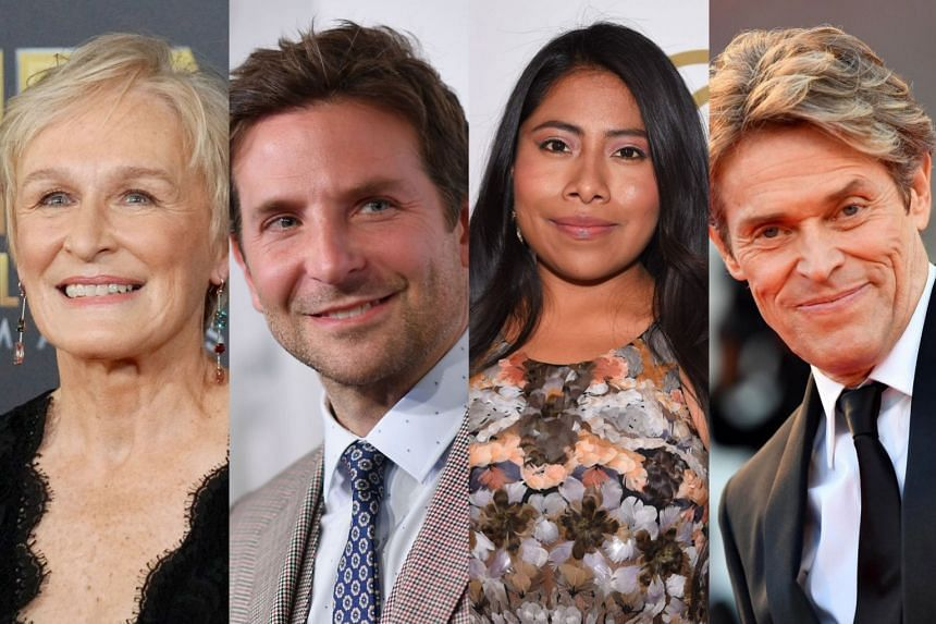 (From left) Glenn Close, Bradley Cooper, Yalitza Aparicio and Willem Dafoe.