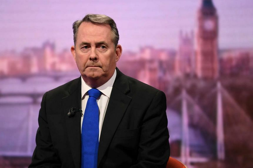 Britain's International Trade Secretary Liam Fox has said he hopes to replicate around 40 EU free trade agreements with third countries by the time Britain leaves the bloc.