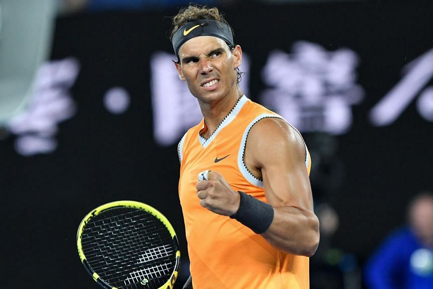 Spain's Rafael Nadal celebrates his victory against Frances Tiafoe of the US during their men's singles quarter-final match on day nine of the Australian Open tennis tournament in Melbourne on Jan 22, 2019.