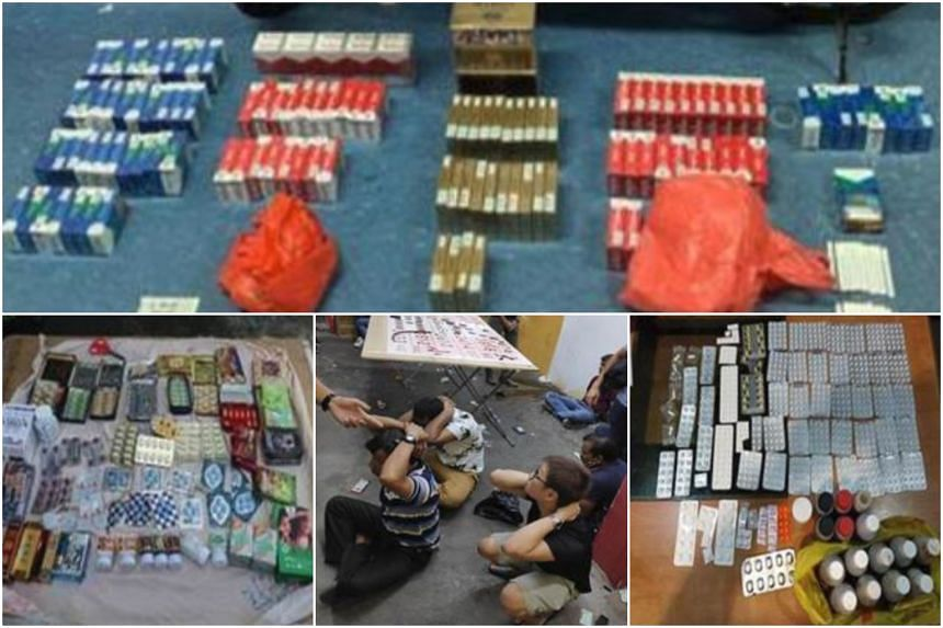 More than $12,000 in cash and gaming paraphernalia as well as contraband cigarettes and illegal medicines with a total street value of about $72,600 were seized during the operation.
