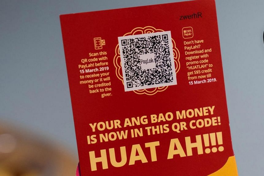 South-east Asia's largest bank DBS will be giving out red paper with a unique QR code printed on it to encode cash from Jan 25, 2019.