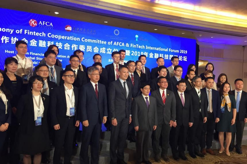 The Fintech Cooperation Committee was launched at the Mandarin Oriental Hotel on Jan 23, 2019.