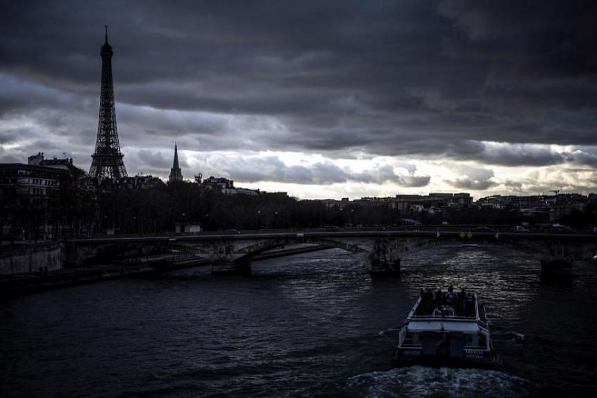 The Seine river in Paris on Dec 10, 2018.  Expenditure on healthcare, pensions and other social services in France stood at 32 per cent of GDP last year.