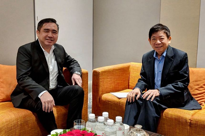 "Transport Minister Khaw Boon Wan (right) made this suggestion to his Malaysian counterpart Anthony Loke, whom he met in Singapore for a ""heart-to-heart discussion"" on Jan 23, 2019."