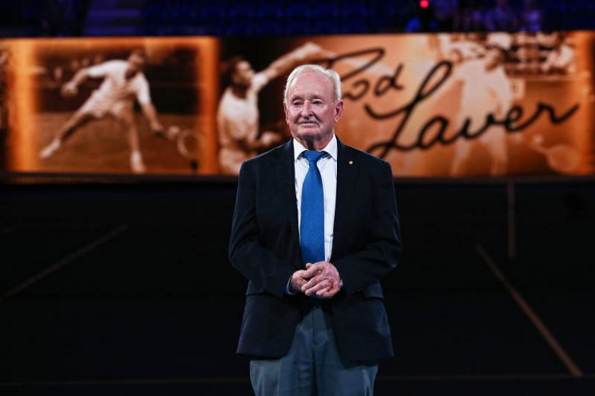 Australian tennis legend Rod Laver attending an event for the 50th anniversary of his second Grand Slam, in Melbourne, Australia, on Jan 14, 2019.