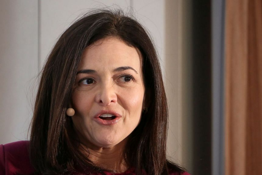 Facebook's Sheryl Sandberg speaks during an event on the sidelines of the World Economic Forum.