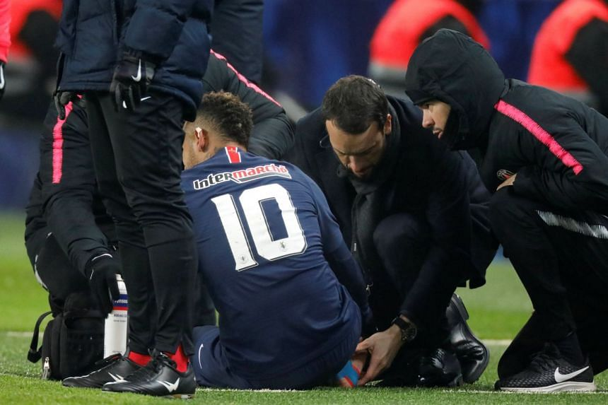 Neymar doubtful for Manchester United Champions League tie after sustaining ankle injury