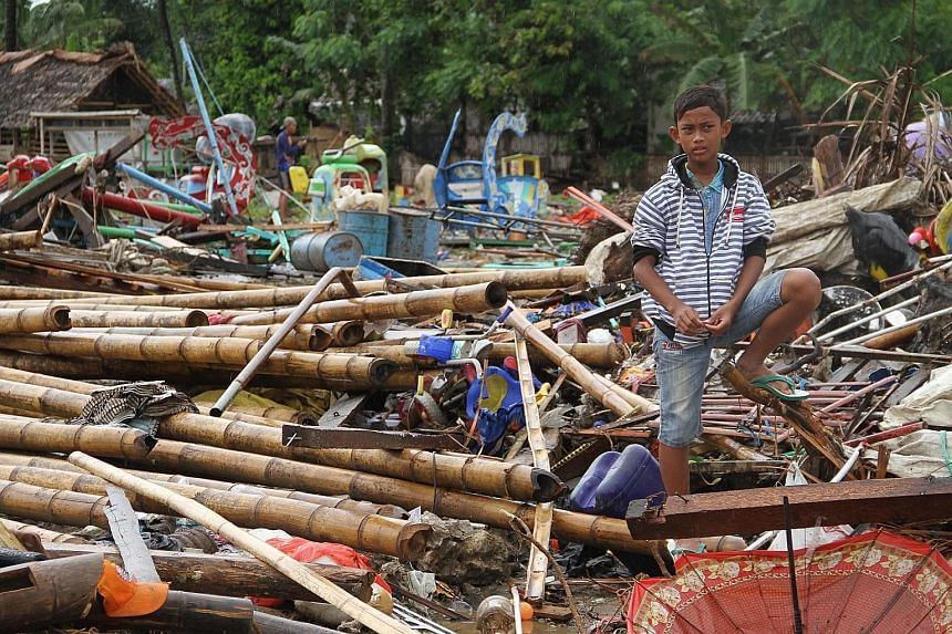 """The scene in Tanjung Lesung, Banten province, in the aftermath of the Dec 22 tsunami that hit the west coast of Java. In his call to involve the local communities, geologist Roger Scoon says they """"are more organised and technically skilled than we en"""