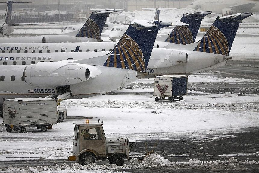 NEWARK LIBERTY AIRPORT: Take-offs from Newark were halted, and inbound planes were held in the air after a drone was spotted over nearby Teterboro Airport. The first notice of a halt to flights was issued at 4.52pm. Just after 7pm, officials said nor