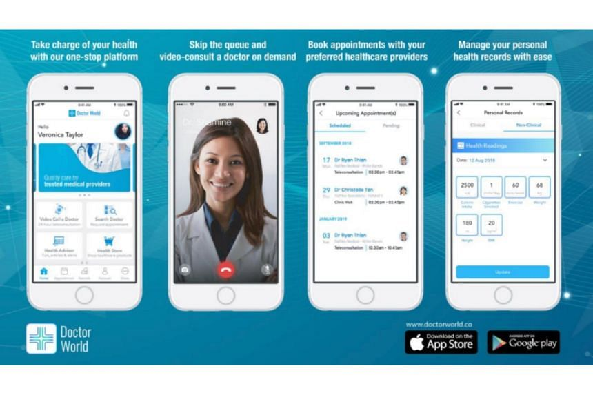 While its core app is aimed at partnering with all doctors, Doctor World has also created a proprietary app just for Raffles Medical called RafflesConnect that links Raffles Medical's doctors and services with its own clients.