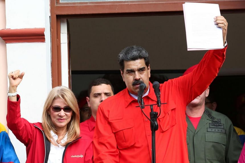 "With street protests against Nicolas Maduro under way across Venezuela, US President Donald Trump called socialist Maduro's government ""illegitimate""."