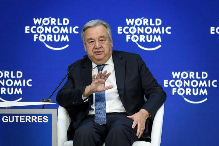 "UN chief Antonio Guterres said the ongoing shift away from a world dominated previously by two Cold War superpowers was creating ""a bit of a chaotic situation""."