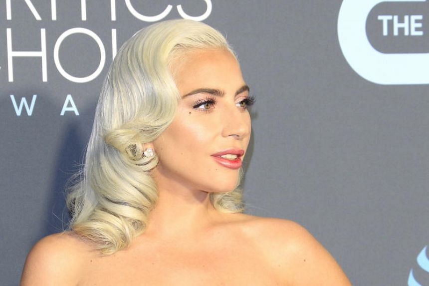United States singer-songwriter Lady Gaga arrives for the 24th Annual Critics' Choice Awards at Barker Hangar in Santa Monica, California, US, on Jan 13, 2019.