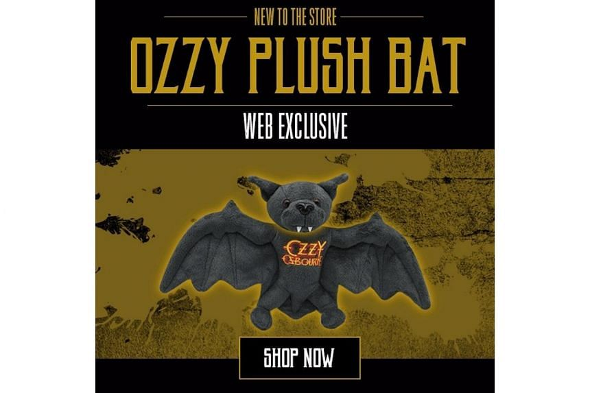 The item celebrates the 37th anniversary of singer Ozzy Osbourne biting the head off a bat at a concert in 1982.