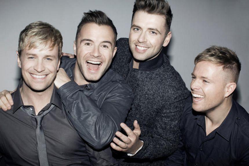 (From left) Irish boyband Westlife comprises Kian Egan, Shane Filan, Mark Feehily and Nicky Byrne.