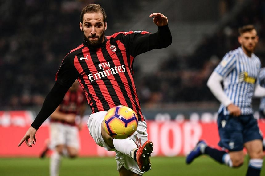 Higuain (above) joins Chelsea after his year-long loan spell with AC Milan was cut to less than six months.