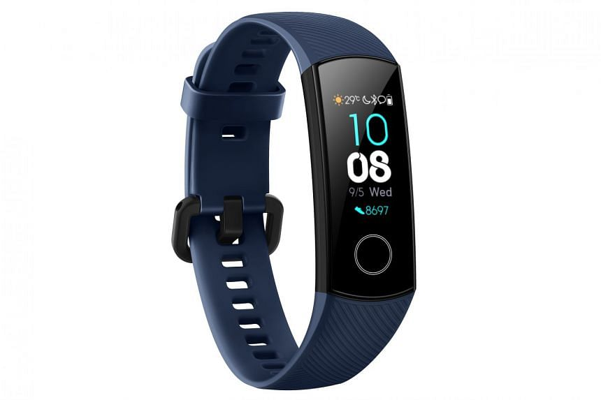 The Honor Band 4 is a fitness tracker that can monitor your heart rate, track steps taken, assess your sleep quality and track your swimming laps. PHOTO: HONOR