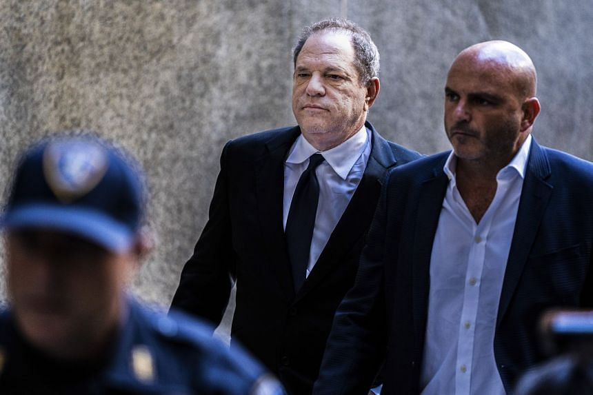 Harvey Weinstein arrives for his arraignment in New York in July 2018.