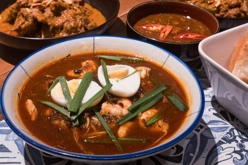 Folklore's Peranakan mee siam ($16++ for dine-in, $18 nett for takeaway) comes with a robust and thick gravy slow-cooked with fermented bean paste, dried shrimp, and prawn broth.