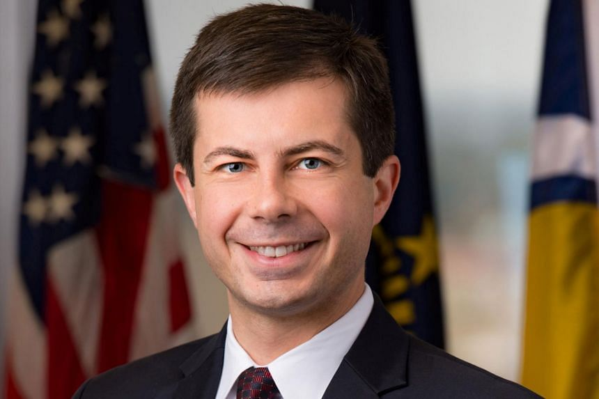 Mr Pete Buttigieg, 37, is the two-term Democratic mayor of South Bend, Indiana.