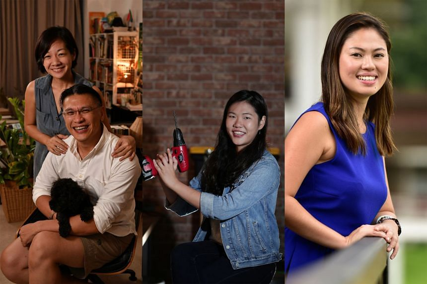 From left: Mr Kenneth Thong and his wife Adeline hope the tickets would bring them closer to a vacation in South Africa with the youth under their roof. Technopreneur Annabelle Kwok hopes to attend the annual Burning Man arts and music festival in Ne