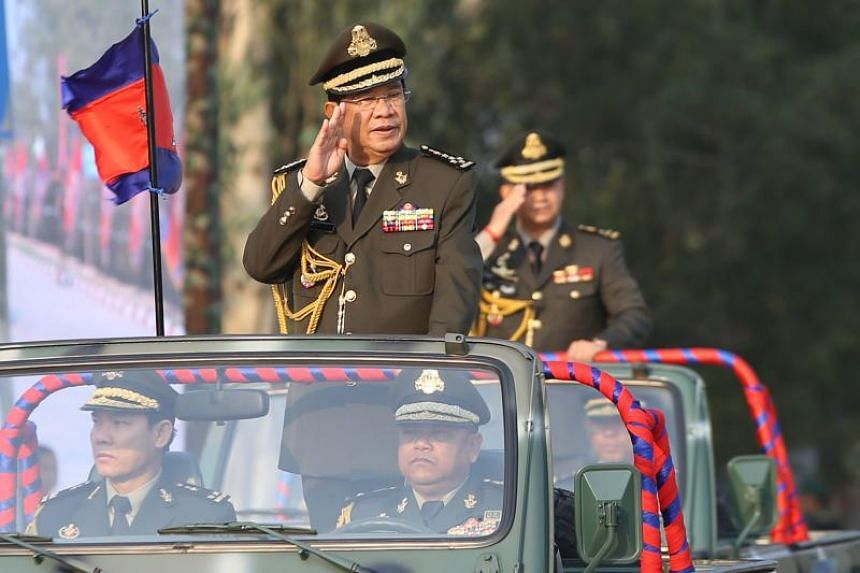 """Cambodian Prime Minister Hun Sen urged the army to """"destroy... revolutions that attempt to topple the legitimate government"""", adding he is """"not afraid to issue an order"""" if faced with threats."""