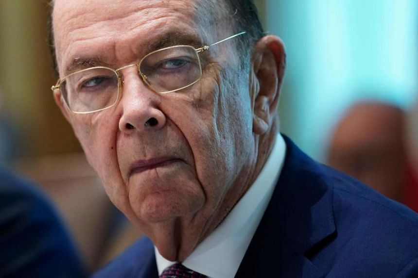 US Commerce Secretary Wilbur Ross takes part in a Cabinet meeting in the Cabinet Room of the White House in Washington on Aug 16, 2018.