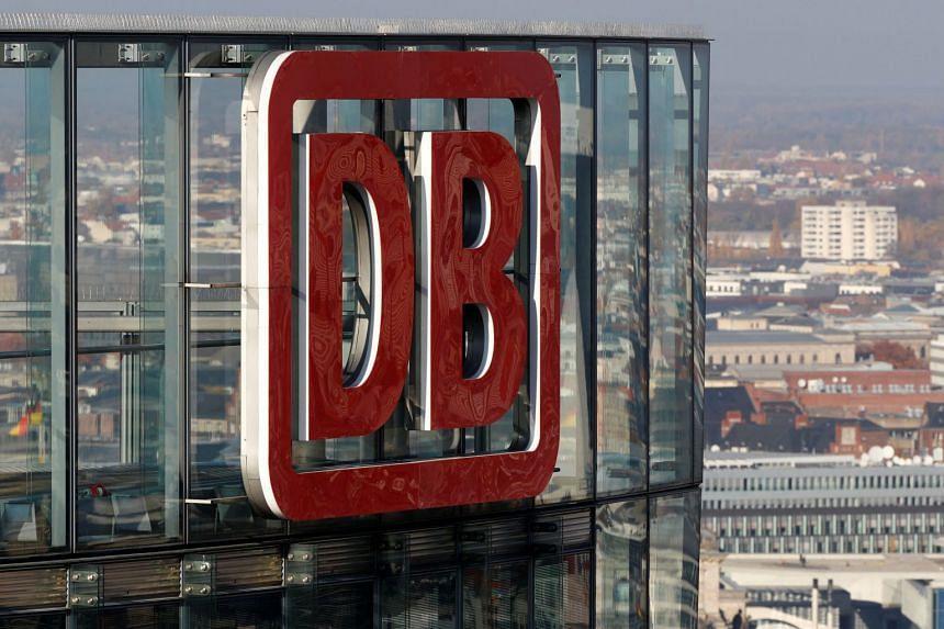 The headquarters of German rail operator Deutsche Bahn is pictured in Berlin, Germany.
