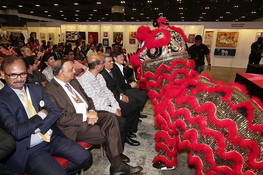 The event at Suntec Singapore Convention and Exhibition Centre's exhibition halls 403 and 404 opened yesterday to the beats of Chinese drums and a lion dance performance. The expo runs till Sunday and entry is free. Several stalls at the Singapore In