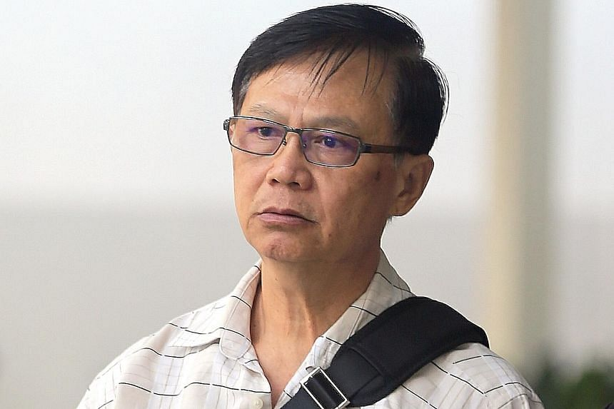 Ng Soon Kim (above) was sentenced to jail for a year and two months for assault. He had sprayed insecticide at fellow cabby Lam Choon Chai twice before igniting the stream of liquid from the aerosol can.