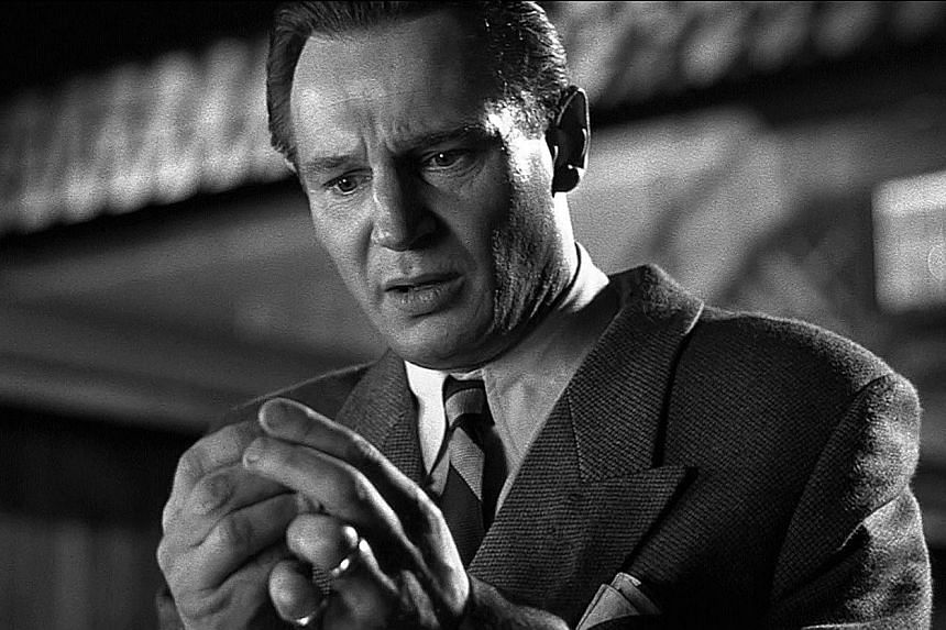 Oskar Schindler (played by Liam Neeson, above) in Schindler's List (1993).