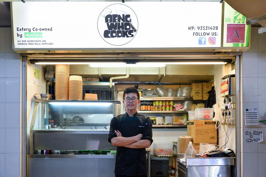 Entrepreneur Jason Chua of Beng Who Cooks at Hong Lim Market and Food Centre in Chinatown.