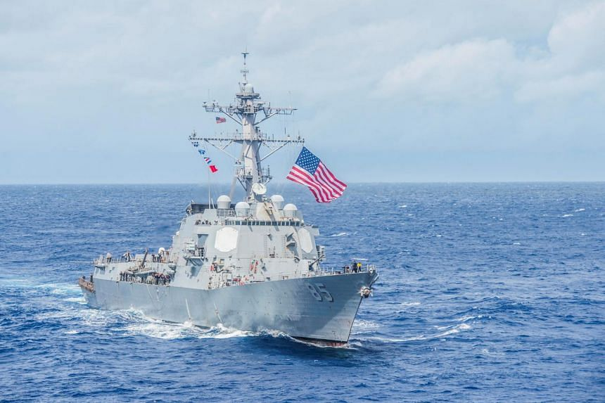 "Guided missile destroyer USS McCampbell (pictured) and the USNS Walter S. Diehl ""conducted a routine Taiwan Strait Transit"" that was ""in accordance with international law"", said US Pacific Fleet spokesman Lt. Cmdr. Tim Gorman."