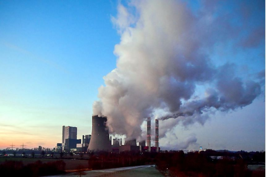 A coal-fired power plant in Bergheim, Germany, on Jan 22, 2019.