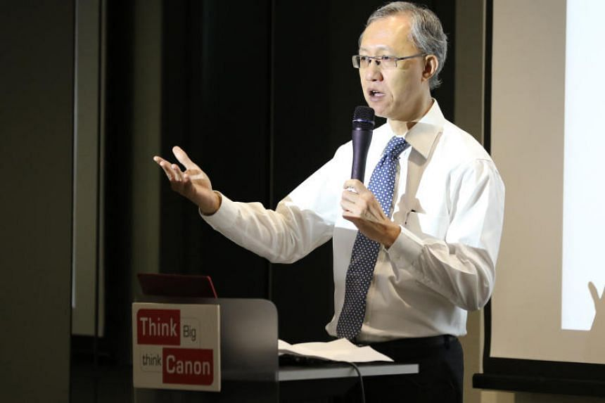National University of Singapore law professor Tan Cheng Han at the Canon Think Big Leadership Series, jointly organised by The Business Times and Canon, on May 26, 2016.