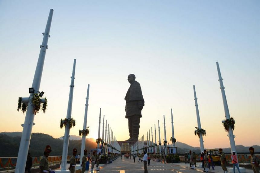The statue of independence hero Sardar Vallabhbhai Patel is more than twice the size of the Statue of Liberty.