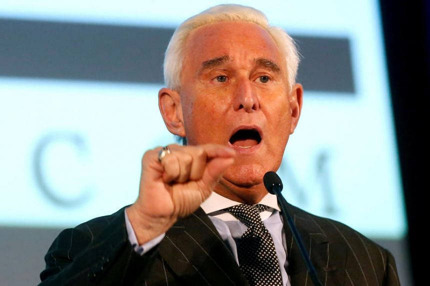 Roger Stone, a long-time ally of US President Donald Trump, speaks at the American Priority conference in Washington, DC, on Dec 6, 2019.