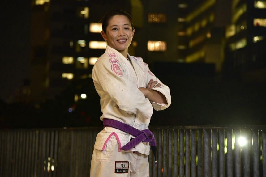 Asian Games jiujitsu exponent May Ooi used to be a national swimmer. PHOTO: THE NEW PAPER