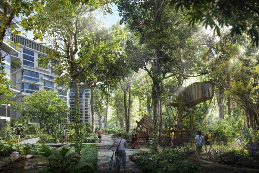 Artist's impression of future Tengah housing estate.