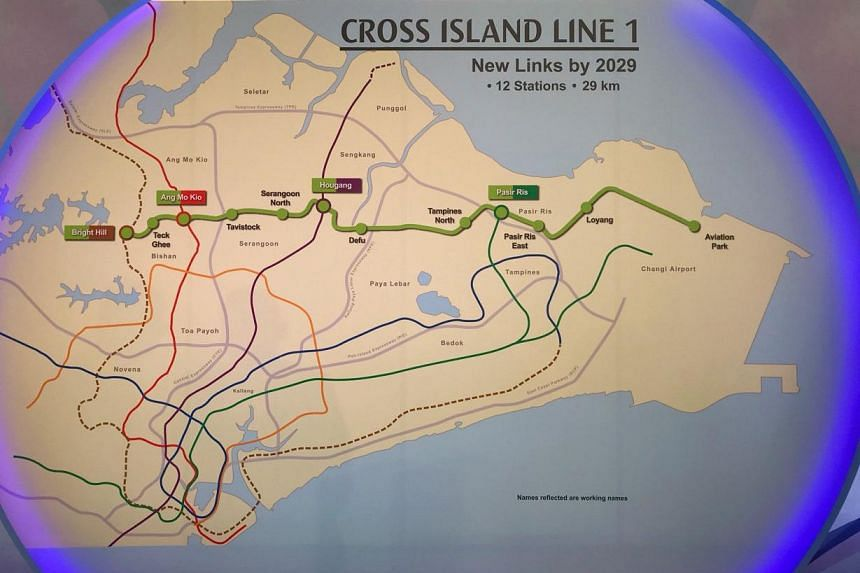 Transport Minister Khaw Boon Wan said that this first stretch will be 29km long. It will have 12 stations and pass through areas such as Changi, Loyang, Pasir Ris, Hougang and Ang Mo Kio.