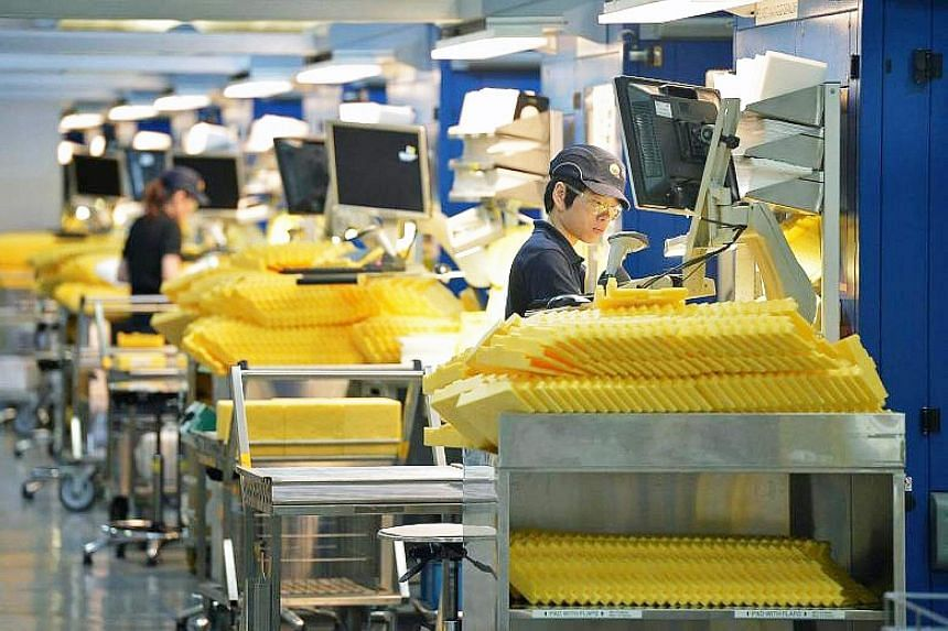 Overall industrial output for last year rose 7.2 per cent from the year before - a marked slowdown from 2017's 10.4 per cent, according to EDB's preliminary figures.
