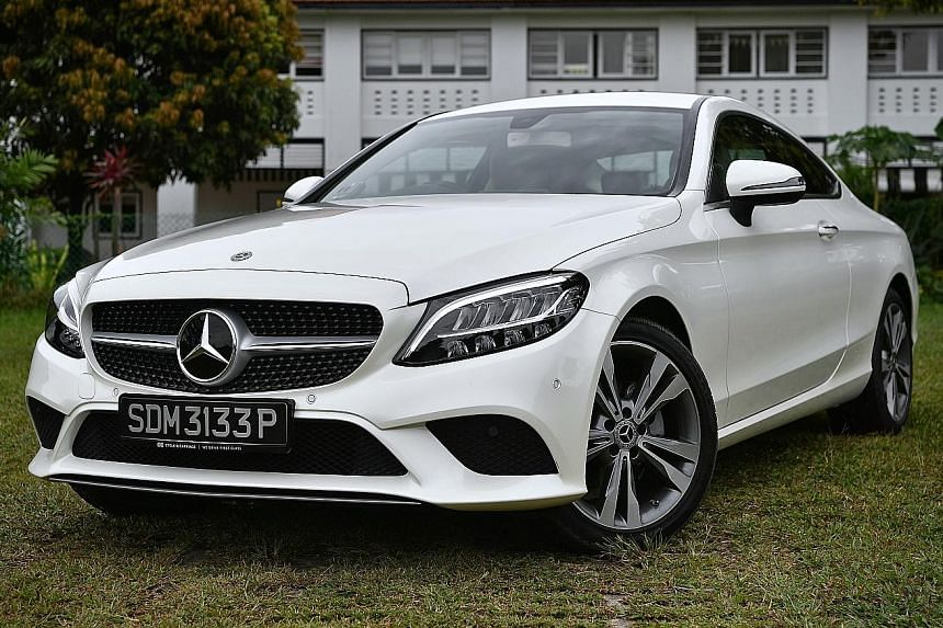 The Mercedes-Benz C180 Coupe has sharp and quick-responding steering.