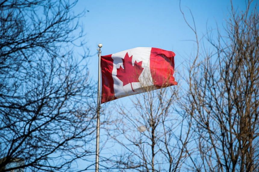 A Canadian flag flies at the Canadian embassy in Beijing, China, on Jan 15, 2019.