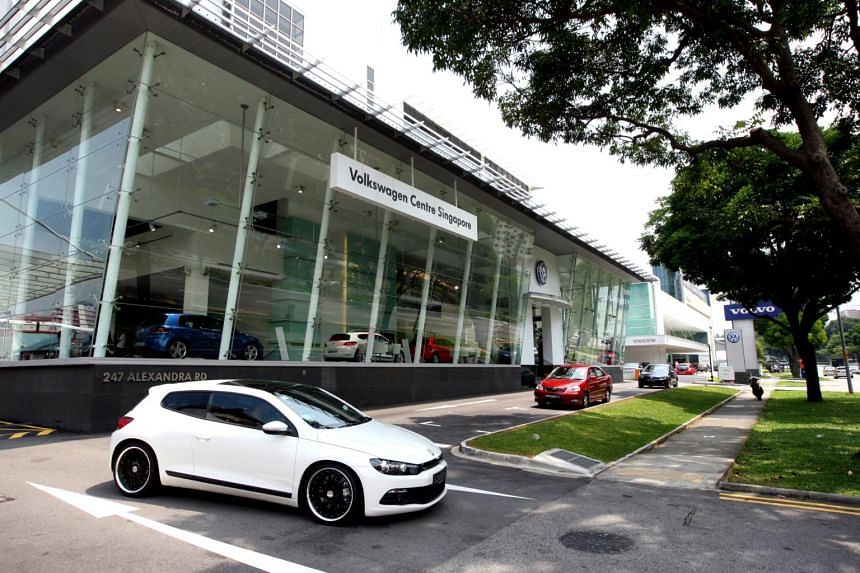 File photo of the Volkswagen Singapore showroom in Alexandra Road.