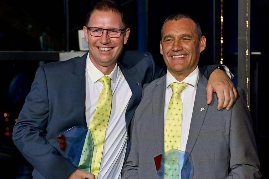 "Adelaide anaesthetist Richard ""Harry"" Harris (left) and retired vet Craig Challen were made dual ""Australians of the Year"" on Jan 25, 2019."
